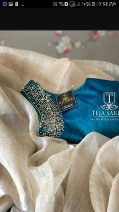 Blouse Designs High Neck, Hand Work Blouse Design, Sari Blouse Designs, Stylish Blouse Design, Designer Blouse Patterns, Fancy Blouse Designs, Wedding Saree Blouse Designs, Half Saree Designs, Choli Designs