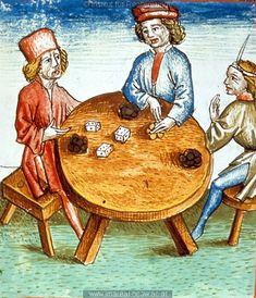 Würfelspiel   Dieses Bild: 006762     1479 ; 1479 ; Wien ; Österreich ; Wien ; Österreichische Nationalbibliothek ; cod. 3049 ; fol. 160r