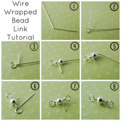 """How to make wire links or """"Barbells"""" #Wire #Jewelry #Tutorials"""