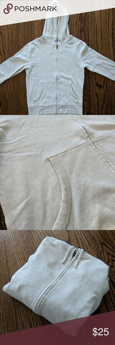 J. Crew Cream Hoodie Off-white/ivory/taupe/cream color. In excellent condition. J. Crew Shirts Sweatshirts & Hoodies