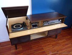 todocoleccion Vintage: mueble tocadiscos, radio y cassette Vica #Años60