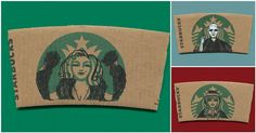 #Starbucks Sleeves Get A Serious Upgrade With Adorable Pop Culture Doodles