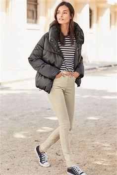 Charcoal Short Duvet Jacket From The Next Uk Online
