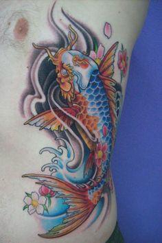 Dragon Koi. Done at Studio Lotus, Campinas-SP, BRAZIL. Deborah (Deh) Soares. More : facebook.com/dehtattoo