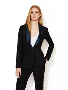 Rex Tuxedo Jacket with Leather Lapels by Elizabeth and James at Gilt