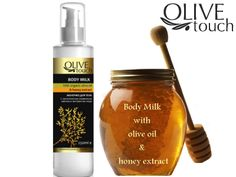 Sweet Honey Body Milk Olive Touch #honeyproducts #bodymilk #honey #honeycosmetics #naturalcosmetics Honey Cosmetics, Cream Nails, Body Lotions, Feet Care, Body Scrub, Cleaning Supplies, Olive Oil, Milk, Touch