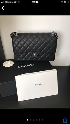 ff30cb8a8b 100% Authentic Brand New CHANEL Jumbo Double Flap Handbag #fashion  #clothing #shoes