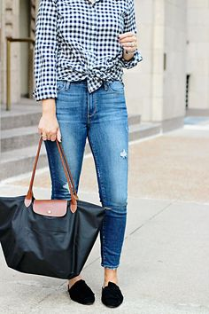 jillgg's good life (for less)   a west michigan style blog: my everyday style: the best gingham top!