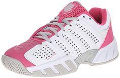 k-SWISS Bigshot Light 2.5 Tennis Shoe (Little Kid/Big Kid), White/Shocking Pink, 4 M US Big Kid