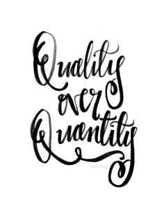 Quality Over Quantity | Nowdays, we're most focused on a number and that's wrong, Why you should stop? Let's start working on quality over quantity!
