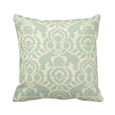 Elephant Babar Serenity Zippered Throw Pillow Cover by Primal Vogue™ - Various Sizes 14x14 16x16 18x18 20x20 24x24 Square Lumbar - Seafoam