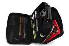 Kutsuwa Dr. Ion Super Mega Pencil Case - Black  Portable office for the win.
