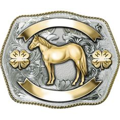 4-H Horse Custom Belt Buckle
