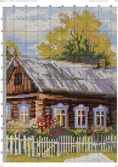 Cross Stitch House, Cross Stitch Art, Cross Stitch Embroidery, Disney Cross Stitch Patterns, Cross Stitch Landscape, Knitting Stitches, Pixel Art, Photo Wall, Community