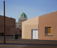 Roswell: Paintings by Christopher Benson Paintings of buildings around Roswell, New Mexico with an emphasis on light and sha. Modern Art, Contemporary Art, American Realism, Landscaping Images, People Art, Studio, New Mexico, Art Images, Street Art