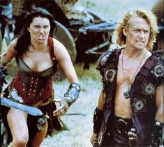 Xena & Iolaus in her first appearance (Hercules: The Legendary Journeys)