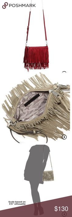 """Rebecca Minkoff fringed cross body Brand new with tags! Selling it in the color """"port"""" which is the color in 1st picture. Other pictures are there for reference. Thank you for looking! :) Rebecca Minkoff Bags Crossbody Bags"""