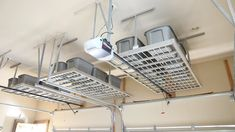 Overhead Garage Storage Racks are perfect for keeping seasonal items out of the way!