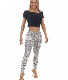 Camboriu Jacquard White Camo leggings