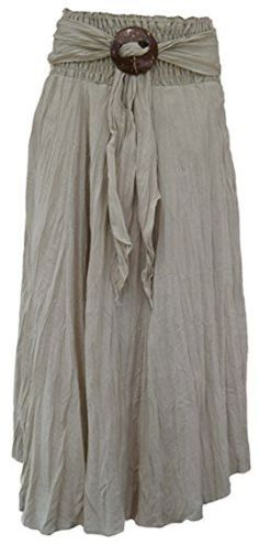 Knack Women's Long Full Crinkle Cotton Skirt & Coconut Shell Buckle (Beige) Waist To (Candy Pink) Coconut Shell, Fabric Manipulation, Cotton Skirt, Pink Candy, Learn To Sew, Crinkles, Vintage Patterns, Dressmaking, Vintage Fashion