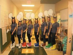 March is reading month character day...what an awesomely supportive staff!!!