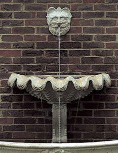 Vittoria Shell Wall Fountain - New England Garden Ornaments Roman Fountain, Garden Ornaments, Outside Room, Garden Wall, Wall, Wall Fountain, Outdoor Walls, Shells, Garden Ornaments For Sale