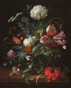 jan davidsz.heem. Vase of Flowers. realism. 1660.