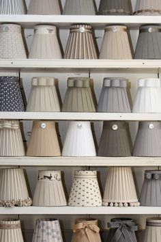 Ribbon lamp shades for wall lights, ceiling lights and lamp bases by Bay Design. Shop for lamp shades handmade in Cornwall from luxurious French ribbons.Create your own bespoke lamp shade seven different sizes to choose from. Ribbon Lamp Shades, Wall Lamp Shades, Candle Shades, French Lamp Shades, Luminaria Diy, Lamp Redo, Lampshade Chandelier, Custom Lamp Shades, Handmade Lampshades