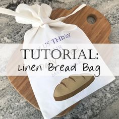 Welcome to our beginner sewing class on creating a linen bread bag! Quilting Tutorials, Sewing Tutorials, Sewing Projects, Sewing Ideas, Sewing Kids Clothes, Sewing For Kids, Snood Pattern, How To Store Bread, Sewing Room Design