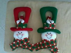 Xmas Ornaments, Christmas Decorations, Holiday Decor, Handmade Christmas Crafts, Handmade Gifts, All Things Christmas, Christmas Time, Ideas Para Fiestas, Felt Crafts