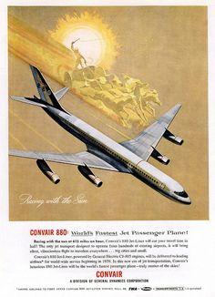 Vintage Airline Advertising Convair 880-990 | Flickr - Photo Sharing!