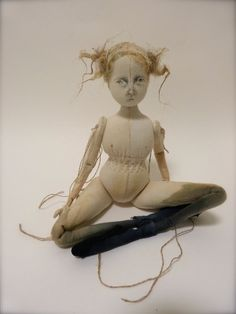 Shore Nymph Tiree Calico Cloth Art Doll by ThePaleRook on Etsy