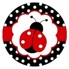 Ladybugs Polka Dots Edible Cupcake Toppers Decoration