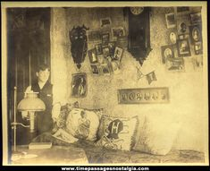 Old Victorian Era Home Interior Photograph. The photo is not dated but it is believed to be from the late 1800s or early 1900s.