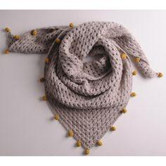 Ravelry: Granny Shawl pattern by Mrs Moon Crochet Kids Scarf, Crochet Triangle Scarf, Crochet Ball, Crochet Shawls And Wraps, Crochet Blanket Patterns, Crochet Scarves, Crochet For Kids, Knit Crochet, Chunky Crochet Scarf