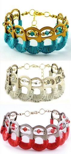 Bottle cap bracelets