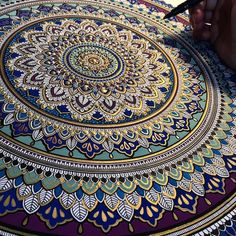 Artist Spends Hours on Ornate Mandalas Gilded with Gold Leaf - My Modern Met