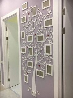 Add a Photo Frame Family Tree decal to your .- Add a Photo Frame Family Tree decal to your home - Family Tree With Pictures, Family Tree Photo, Photo Tree, Family Trees, Family Tree Picture Frames, Picture Walls, Wall Pictures, Family Tree Decal, Family Tree Wall Decor