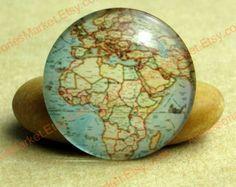 Map of Africa - Handmade Round Glass Photo Cabochons 8mm 10mm 12mm 14mm 16mm 18mm 20mm 25mm 30mm Accessories for Jewelry Making TP0051-02