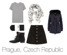 Prague by skittlebug1 on Polyvore featuring ADAM, AG Adriano Goldschmied, H&M, Sam Edelman and Disney