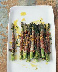 Pancetta-Wrapped Asparagus with Citronette // More Asparagus Recipes: http://www.foodandwine.com/slideshows/asparagus #foodandwine