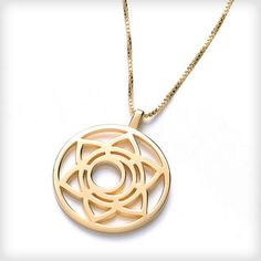 Daisy London Chakra 24ct Yellow Gold Vermeil Svadhisthana Sacral Chakra Necklace at Cotton & Gems