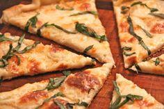 Thin Crust White Pizza (Add Tomato To Make Caprese Pizza!)