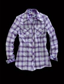 Tin Haul® Women's Purple Crystal Ombre Long Sleeve Snap Cowgirl Shirt