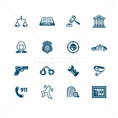 Law and order icons | MICRO series stock photo (c) sahua (#8331408) | Stockfresh
