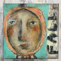 Little Pumpkin No. 3, Outsider, Mixed Media Painting, Folk Art, Costume, Fall…