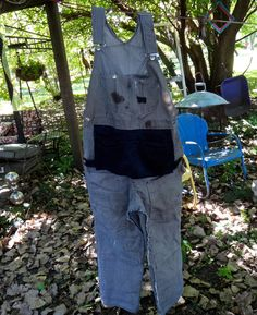Overalls, Vintage Clothing, RR Overall, Carpenter, Train, Bib Overalls, Pinstriped Overalls, Farm Clothing, Train Engineer, 1970s, Clothing by CasaKarmaDecor, $64.00 USD