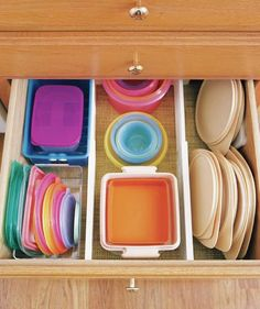 File Plastic Containers | As these photos show, what makes a kitchen great is how you organize it.