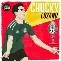 World Cup Russia 2018, World Cup 2018, Fifa World Cup, Chucky Lozano, Mexico Soccer, Behance, Finals, Daddy, Nerd