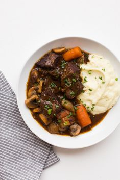 Some long-term readers may remember that I posted a Beef Bourguignon recipe about this time last year. While it tasted great, I wasn't happy with some of the steps in the recipe, and I was re… Wine Recipes, Beef Recipes, Cooking Recipes, Healthy Recipes, Healthy Eats, Paleo Ideas, Paleo Food, Turkey Recipes, Cooking Ideas